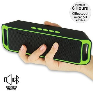 Indigi® Portable Wireless Bluetooth Speaker Rechargeable Bass Stereo (Great Gift Idea)