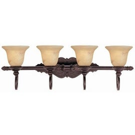 "Savoy House 8P-50215-4 Knight 34.25"" Wide 4 Light Bathroom Vanity Light - Antique Copper"
