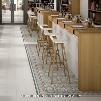 """SomerTile Caprice Saint Tropez Encaustic 7.86"""" x 7.86"""" Porcelain Floor and Wall Tile"""