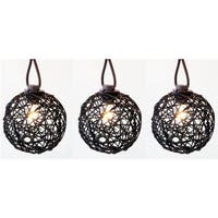 Living Accents  9 ft. C7 Ratton Ball Light Set  Clear - 10 Lights