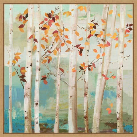 Fall Birch Trees by Allison Pearce Framed Canvas Art
