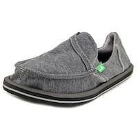 Sanuk Pick Pocket Fleece Women  Moc Toe Canvas Gray Loafer
