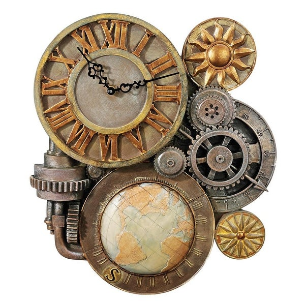 Design Toscano Gears of Time Sculptural Wall Clock: Medium
