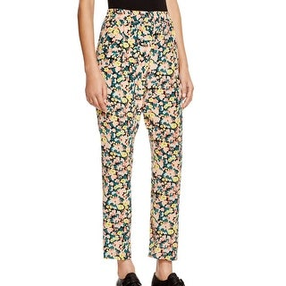 Max Mara NEW Green Women's Size 10 Silk Floral Spot Effect Pants