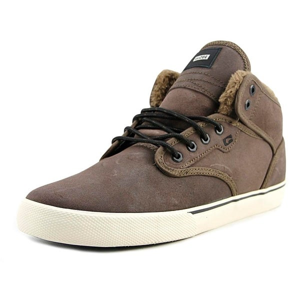 Globe Motley Mid Men Dark Brown/Off White/Fur Skateboarding Shoes