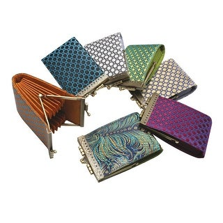 Women's French Ten Slot Accordion Style Credit Card Wallet - Medium