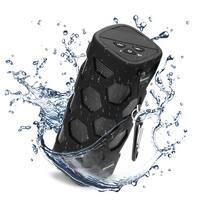 AGPtek Wireless Bluetooth Speaker w/ Power Waterproof and dustproof Loud Blue Tooth Speakers-Black