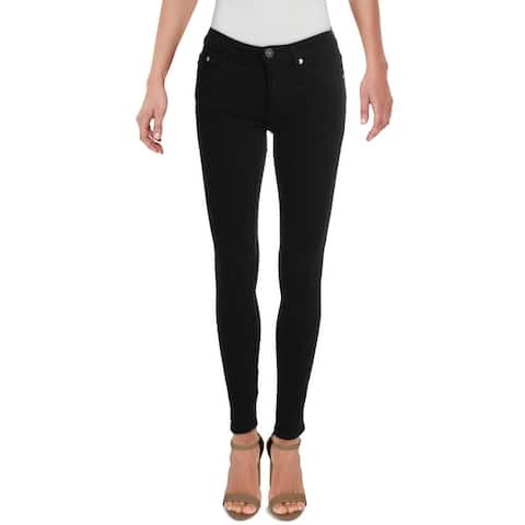 French Connection Womens Rebound Skinny Jeans High Rise Denim - Black - 0