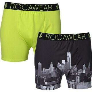Rocawear Mens Boxer Briefs 2PK Moisture Wicking