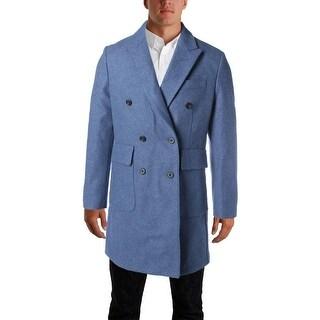 Hardy Amies Mens Wool Melange Top Coat - 38R