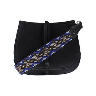 Steve Madden Womens Saddle Handbag Faux Leather Convertible - Medium