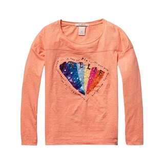Sequined T-Shirt - Pink