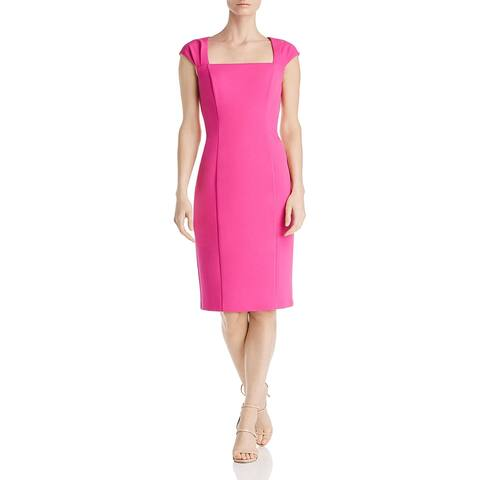 Eliza J Womens Sheath Dress Cut-Out Square Neck - Fuschia