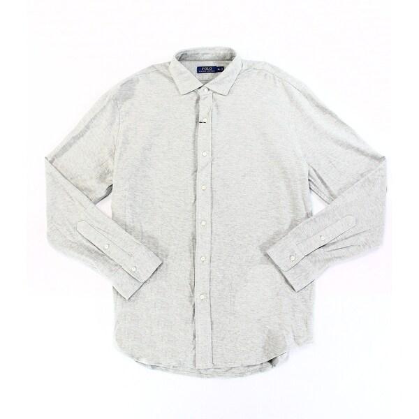 7d89059ce090 Polo Ralph Lauren NEW Gray Heather Mens Size Large L Button Down Shirt