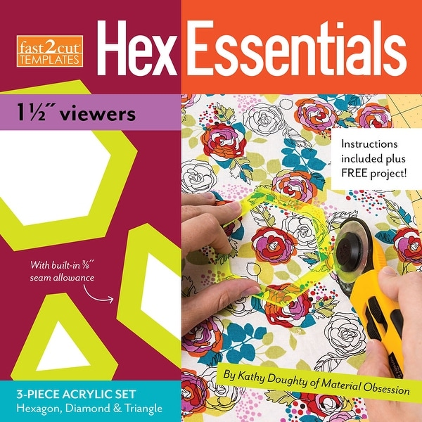 "Fast2cut Hexessentials 1-1/2"" Viewers Template Set-"