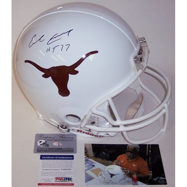0b5222eaf Shop Earl Campbell Autographed Hand Signed Texas Longhorns Authentic Helmet  - PSA/DNA - Free Shipping Today - Overstock - 12904129