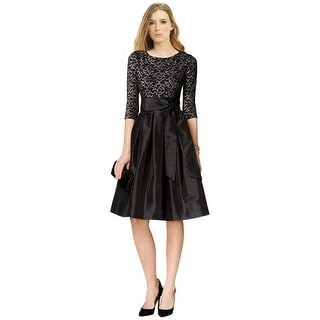 Jessica Howard Lace Top 3/4 Sleeve A-Line Cocktail Dress - 16