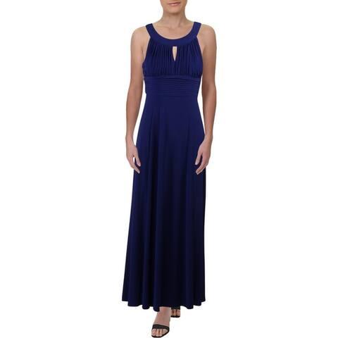 SLNY Womens Formal Dress Sleeveless Pleated