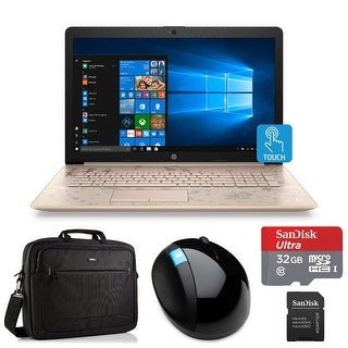"HP 17 Intel Core i3-8130U 8GB 17.3"" Touch WLED Laptop Bundle with Office 365 - Pale Rose Gold"