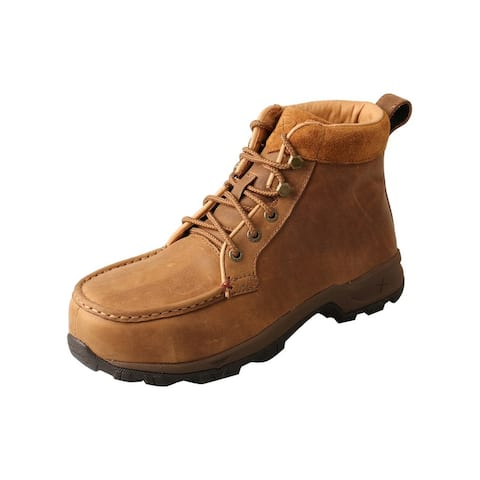 Twisted X Outdoor Shoes Women WP Hiker Alloy Toe Leather Brown