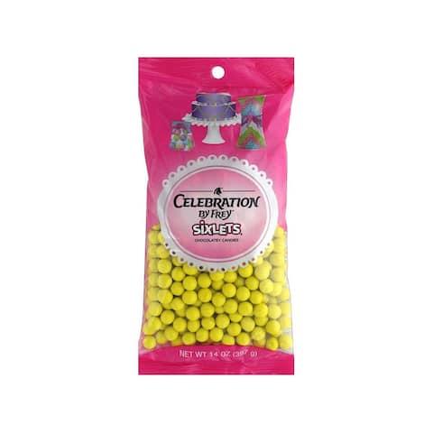 95056 sweetworks sixlets celebration 14oz yellow