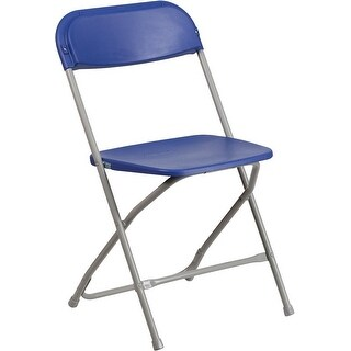 Rivera Heavy Duty Plastic Folding Chair, Blue
