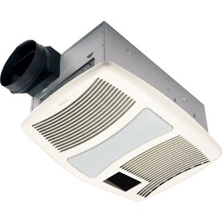 NuTone QTXN110HL 110 CFM 0.9 Sone Ceiling Mounted HVI Certified Bath Fan with Incandescent Lighting and Night Light from the QT