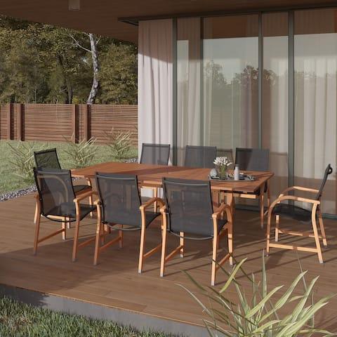 Amazonia Cosmopolitan Brown 9-piece Patio Dining Set