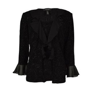 R & M Richards Women's Chiffon Ruffle Blouse - Black|https://ak1.ostkcdn.com/images/products/is/images/direct/1cc93a57c9db0e3395fdb3c9950bc55d0eac70ff/R-%26-M-Richards-Women%27s-Chiffon-Ruffle-Blouse.jpg?impolicy=medium