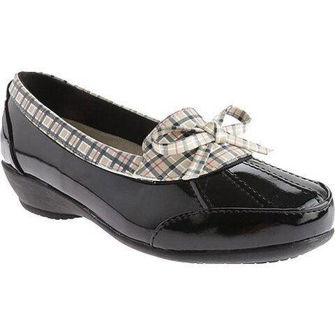 Beacon Shoes Women's Rainy Black Plaid Polyurethane