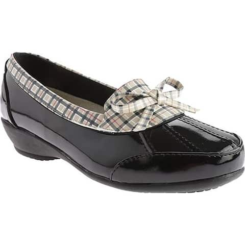 Beacon Shoes Women's Rainy Black Plaid Polyurethane