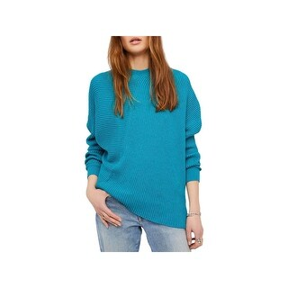 Free People Womens Downtown Pullover Sweater Ribbed Knit Asymmetrical