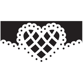 "Martha Stewart Deep Edge Punch-Lattice Heart, 1.75""X2"""