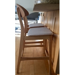 Carson Carrington Lund Wood 24-inch Counter Stool (Set of 2)