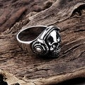 Vienna Jewelry Thick Stainless Steel Skull Ring - Thumbnail 1