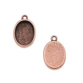 Nunn Design Antiqued Copper Plated Pewter Pendant Oval Bezel 14X10mm/2