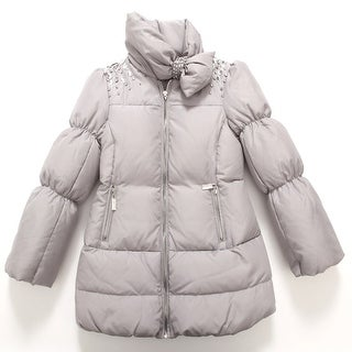 Richie House Girls' Glamorous Bejeweled Padded Coat