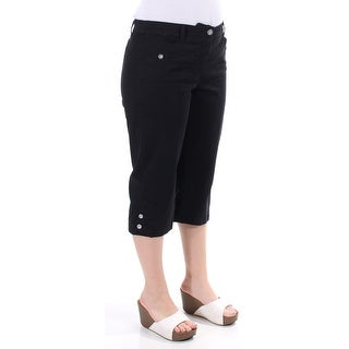 KAREN SCOTT $53 Womens New 1455 Black Bermuda Casual Pants Petites 8 B+B