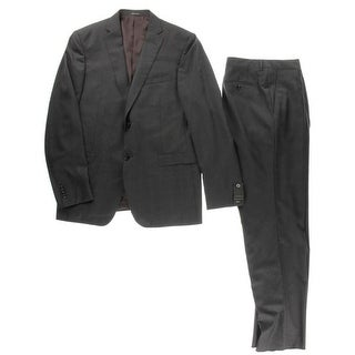 Z Zegna Mens Wool Two-Button Suit - 44R