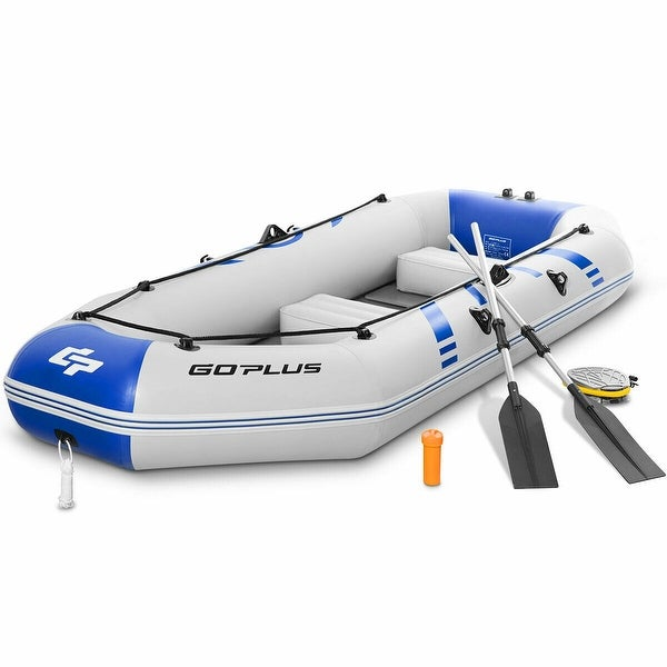 Shop Goplus 3-4 Persons Inflatable Fishing Boat w/ Oars and