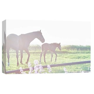 "PTM Images 9-101872  PTM Canvas Collection 8"" x 10"" - ""Schagen Pair"" Giclee Horses Art Print on Canvas"
