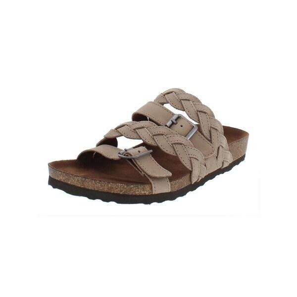 3b0625a1a139 Shop White Mountain Womens Holland Slide Sandals Buckle Braided ...