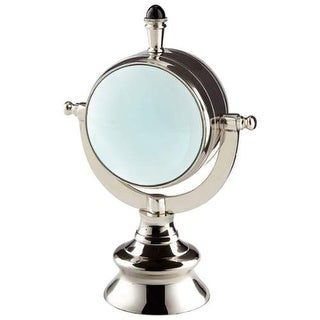 Cyan Design Looking Glass Sculpture Looking Glass 10.25 Inch Tall Aluminum Sculpture Made in India - Nickel