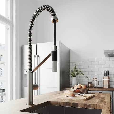 VIGO Livingston Matte Black Magnetic Kitchen Faucet