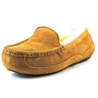 Ugg Australia Ascot Youth Moc Toe Suede Tan Slipper