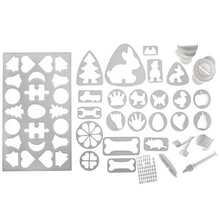 Cookie Cutter Set - Deluxe 30 Pieces - Holidays, Letters, Numbers, Puzzle Piece