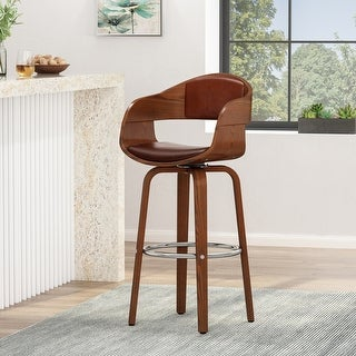 Link to Clyo Indoor  Upholstered Swivel Barstool by Christopher Knight Home Similar Items in Dining Room & Bar Furniture