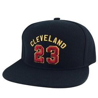 Cleveland King Lebron #23 Snapback Hat Cap - Black Burgundy