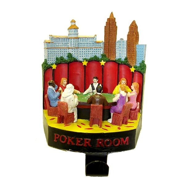 "6"" Casino Gambling Poker Room Christmas Stocking Holder"