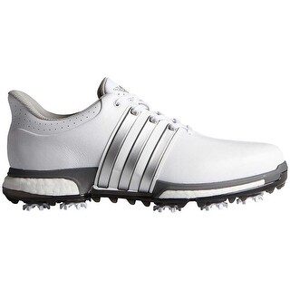 Adidas Men's Tour 360 Boost White/Silver Met./Dk Silver Met. Golf Shoes F33249/F33261